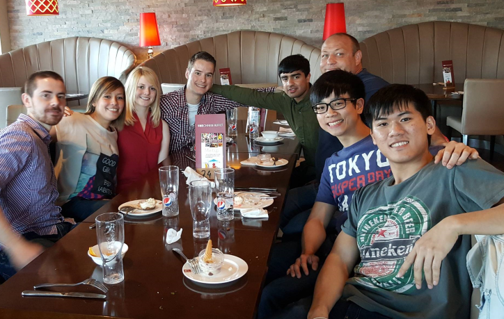 Final Bradford university judo club meal for academic year