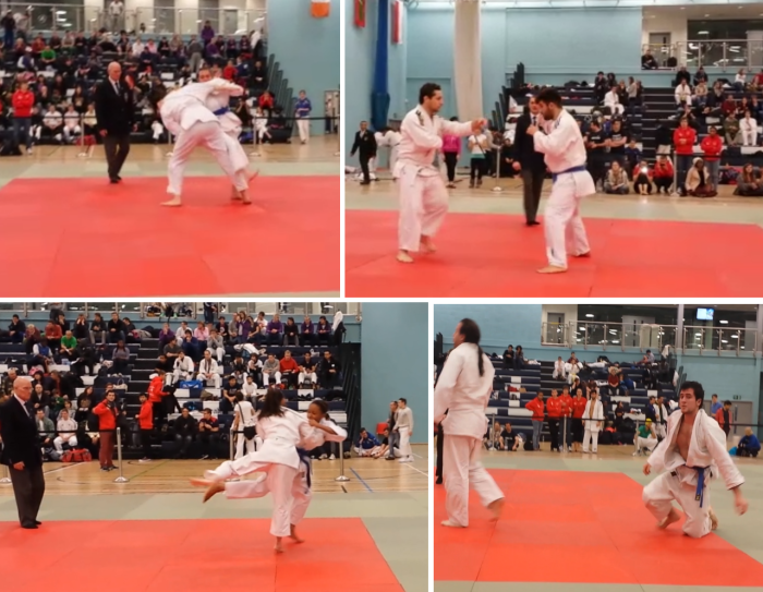 Judo Team Bradford in action at London University & College Senior Open 2013 Competition