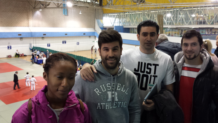 Supporters of Bradford University Judo Club at U21 North of England Championships